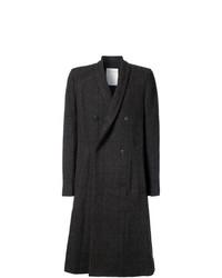 Abrigo largo de tartán en marrón oscuro de Stephan Schneider