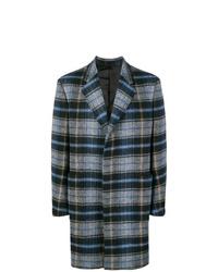 Abrigo largo de tartán gris de Calvin Klein 205W39nyc