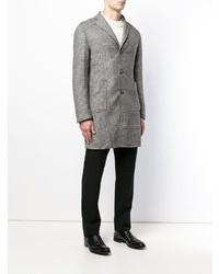 Abrigo largo de tartán gris de Tagliatore