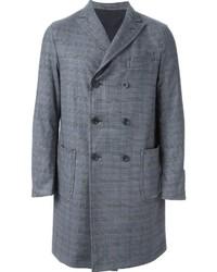 Abrigo largo de tartán gris de Lardini
