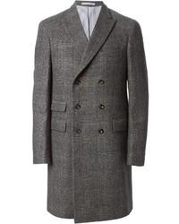 Abrigo largo de tartán gris de Michael Bastian