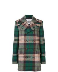 Abrigo largo de tartán verde oliva de Vivienne Westwood