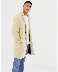 Abrigo largo en beige de Pull&Bear