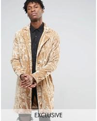 Abrigo largo en beige de Reclaimed Vintage