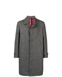 Abrigo largo en blanco y negro