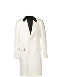 Abrigo largo en blanco y negro de Dolce & Gabbana