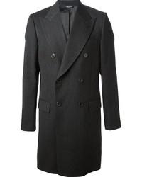 Abrigo largo en gris oscuro