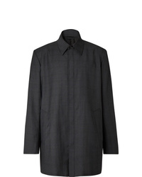 Abrigo largo en gris oscuro de Balenciaga