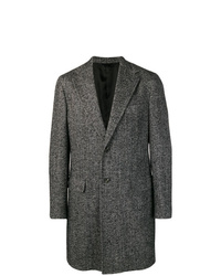 Abrigo largo en gris oscuro de Barba