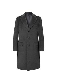 Abrigo largo en gris oscuro de Brioni