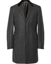 Abrigo largo en gris oscuro de Canali