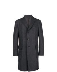 Abrigo largo en gris oscuro de Ermenegildo Zegna