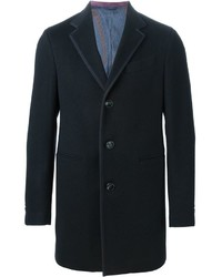 Abrigo largo en gris oscuro de Etro