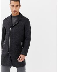 Abrigo largo en gris oscuro de Lindbergh