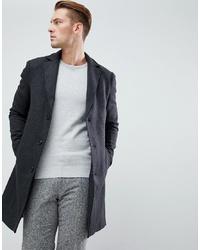 Abrigo largo en gris oscuro de Pier One
