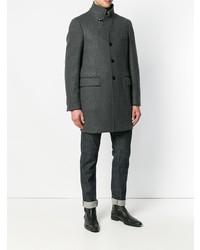 Abrigo largo en gris oscuro de Fay