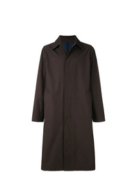 Abrigo largo en marrón oscuro de AMI Alexandre Mattiussi