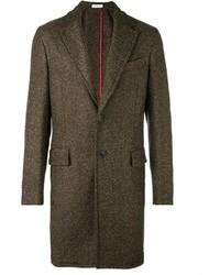 Abrigo largo en marrón oscuro de Boglioli