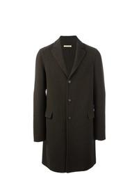 Abrigo largo en marrón oscuro de Massimo Alba