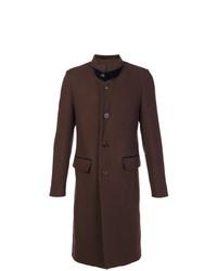 Abrigo largo en marrón oscuro de UMIT BENAN