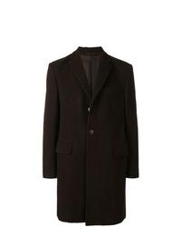 Abrigo largo en marrón oscuro de Z Zegna