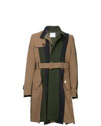 Abrigo largo en multicolor de Sacai