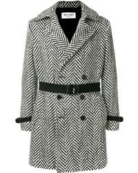 Abrigo largo en negro y blanco