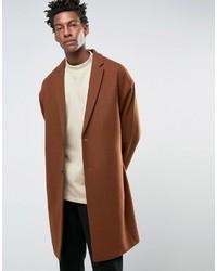 Abrigo largo en tabaco de Asos