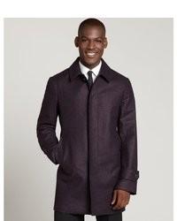 Abrigo largo en violeta