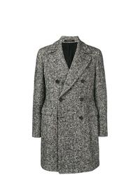 Abrigo largo en zig zag en negro y blanco de Tagliatore