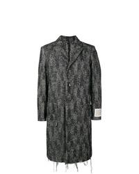 Abrigo largo en zig zag negro de Diesel