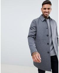 Abrigo largo gris de ASOS DESIGN