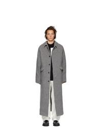 Abrigo largo gris de Kassl Editions