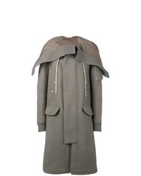 Abrigo largo gris de Rick Owens
