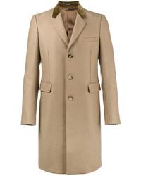 Abrigo largo marrón claro de Alexander McQueen