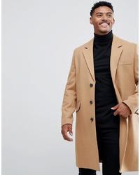 Abrigo largo marrón claro de ASOS DESIGN