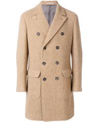 Abrigo largo marrón claro de Brunello Cucinelli
