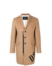 Abrigo largo marrón claro de DSQUARED2