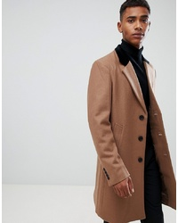 Abrigo largo marrón claro de French Connection