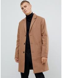 Abrigo largo marrón claro de KIOMI