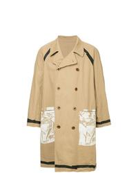 Abrigo largo marrón claro de Kolor Beacon