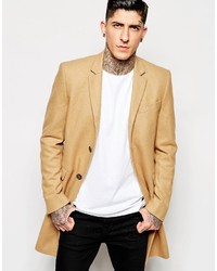 Abrigo largo marrón claro de Minimum