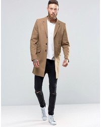 Abrigo largo marrón claro de ONLY & SONS