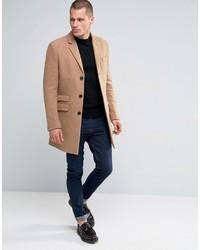 Abrigo largo marrón claro de Farah