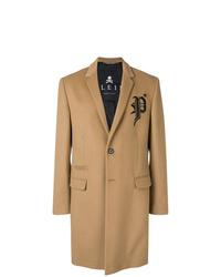 Abrigo largo marrón claro de Philipp Plein
