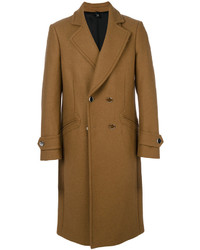 Abrigo largo marrón de Christian Pellizzari