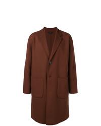 Abrigo largo marrón de Hevo