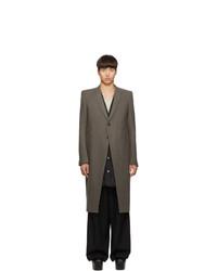 Abrigo largo marrón de Rick Owens