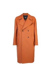 Abrigo largo naranja de Yang Li