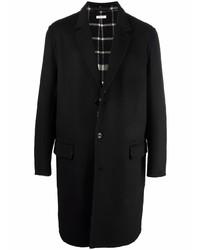 Abrigo largo negro de Alexander McQueen